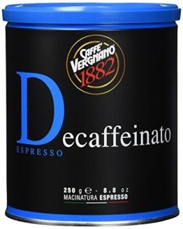 Caffè Vergnano 1882 Koffeinfrei Espresso Dose, 2er Pack (2 x 250 g) - 1