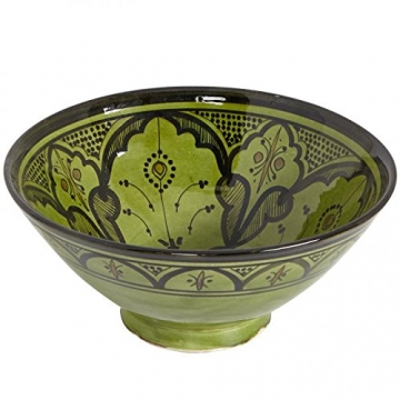 Casa Moro Handbemalte Handmade Keramik Schüssel Schale KS66 aus Marokko - 2