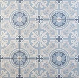Casa Moro Marokkanische Fliesen Ziad 20x20 cm 1 qm aus Feinsteinzeug | Bodenfliesen & Wandfliesen für schöne Küche Flur & Badezimmer | FL7016 - 1