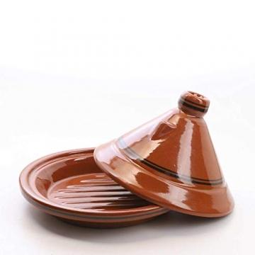 Casa Moro Marokkanische Tajine Terra Miel Ø 30 cm glasiert zum Kochen für 3 bis 4 Personen | Handmade Gartopf Tontopf aus Marrakesch - 2