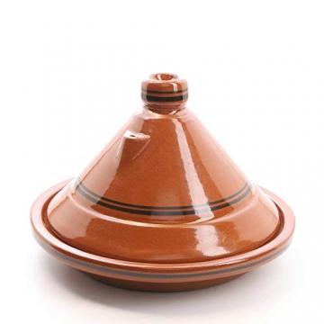 Casa Moro Marokkanische Tajine Terra Miel Ø 30 cm glasiert zum Kochen für 3 bis 4 Personen | Handmade Gartopf Tontopf aus Marrakesch - 1