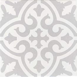 Casa Moro Mediterrane Keramik-Fliesen Daris 20x20 cm 1qm aus glasiertem Feinsteinzeug in Zementoptik | Marokkanische Bodenfliesen & Wandfliesen für Bad Küchenrückwand Küche Flur - 1