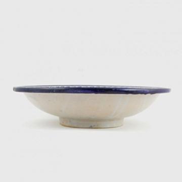 Casa Moro Orientalische handbemalte Keramik Schale Teller F017 rund Ø 34 cm blau weiß | Salatschüssel Obstschale | KSF017 - 2