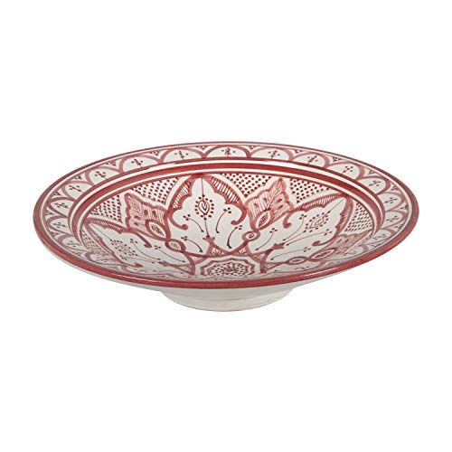 Casa Moro Orientalischer Keramik-Teller F033 Schale Ø 40 cm Groß | Handbemalte marokkanische Keramik-Schale Schüssel Obstschale Servierschale | KSF033 - 2