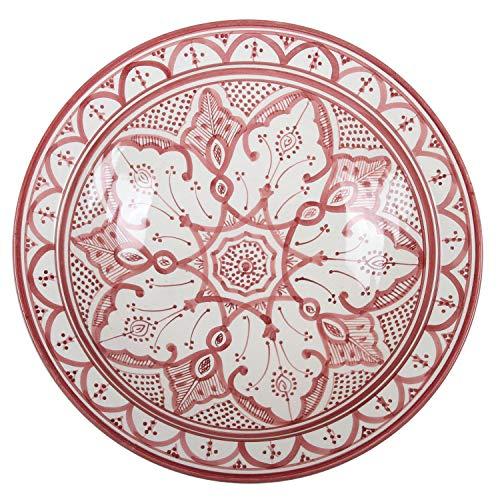 Casa Moro Orientalischer Keramik-Teller F033 Schale Ø 40 cm Groß   Handbemalte marokkanische Keramik-Schale Schüssel Obstschale Servierschale   KSF033 - 3