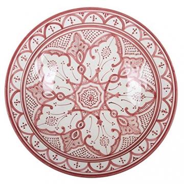 Casa Moro Orientalischer Keramik-Teller F033 Schale Ø 40 cm Groß | Handbemalte marokkanische Keramik-Schale Schüssel Obstschale Servierschale | KSF033 - 1