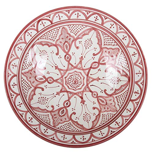 Casa Moro Orientalischer Keramik-Teller F033 Schale Ø 40 cm Groß   Handbemalte marokkanische Keramik-Schale Schüssel Obstschale Servierschale   KSF033 - 1