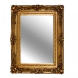 Casa Padrino Barock Wandspiegel Gold Antik-Look Höhe 121 cm, Breite 90 cm - Edel & Prunkvoll - 1