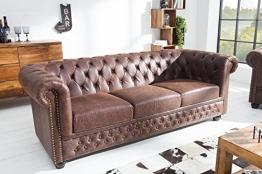 Casa Padrino Chesterfield 3er Sofa Antikbraun aus dem Hause Wohnzimmer Couch Antik Braun - 1