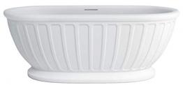 Casa Padrino Freistehende Jugendstil Badewanne Weiß 169 x 80 x H. 57 cm Qualität - 1