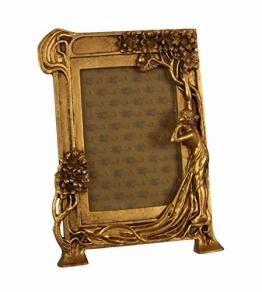 Casa Padrino Jugendstil Bilderrahmen Gold Antik Stil 18.9 x 25.4 cm - Bilder Rahmen Barock Foto Rahmen - 1