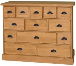 Casa Padrino Landhausstil Kommode mit 13 Schubladen - Büromöbel im Landhausstil, Farbe:naturfarben - 1