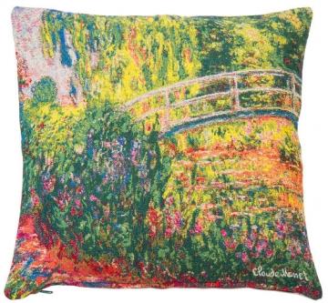 Claude Monet: Kissenhülle ´Japanische Brücke im Garten von Giverny´ (1900)