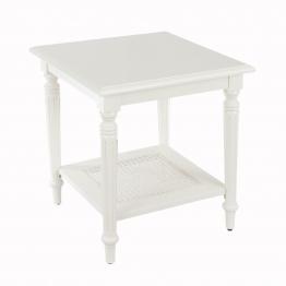 Couchtisch Dorothee 50x50x55cm, white, 50 × 50 × 55 cm