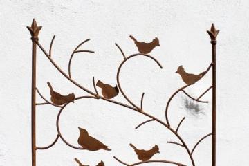DanDiBo Rankhilfe mit Vögel 120705 Rankgitter aus Metall H-150 cm B-50 cm Kletterhilfe - 2