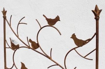 DanDiBo Rankhilfe mit Vögel 120705 Rankgitter aus Metall H-150 cm B-50 cm Kletterhilfe - 5