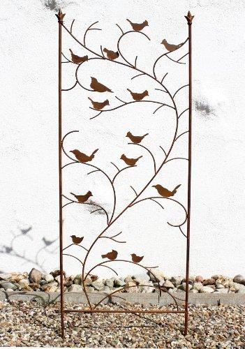 DanDiBo Rankhilfe mit Vögel 120705 Rankgitter aus Metall H-150 cm B-50 cm Kletterhilfe - 1