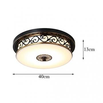 Deckenlampe Retro Schwarz Led Dimmbar Vintage Landhaus Eisen