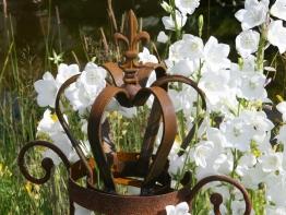 Deko-Krone Fleur de Lys rost Rostkrone Gartendeko