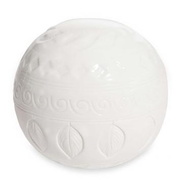 Deko Kugel Aus Weißem Porzellan H12 Valley Shop Ambiente Mediterran