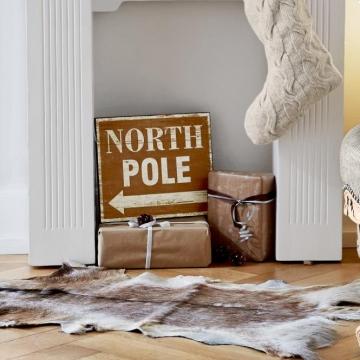 Deko Schild North Pole Shop Ambiente Mediterran