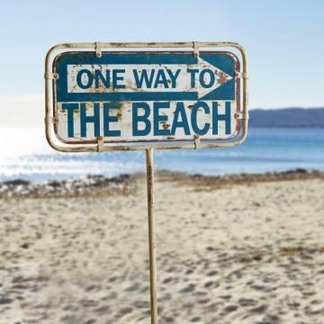 Deko Schild One Way Shop Ambiente Mediterran