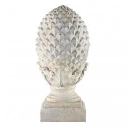 Deko-Tannenzapfen aus Kunstharz, H 58cm, weiß