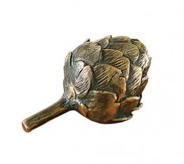 Dekofrüchtchen ´Artischocke´, Version in Bronze