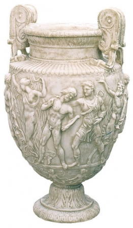 Dionysien-Prunkvase (Originalgröße), Kunstmarmor, Replikat, Vase