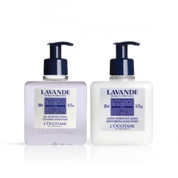 Duo Lavendel Handwaschgel und feuchtigkeitsspendende Lotion für die Hände - L'Occitane en Provence