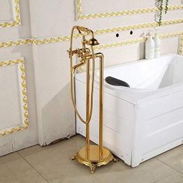 Dusche Komplettes Kupfer Rose Gold-Dusche-Hahn-Satz/Vergoldete Dusche mit Hebe Antike Dusche Schöner praktischer Dusche Sets - 1