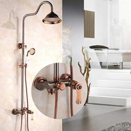 Duschsysteme Antike Dusche Set ORB schwarz Dusche europäischen Dusche ORB Rose Gold Diamond Dusche Wasserhahn Badezimmer Dusche JFYCUICAN - 1
