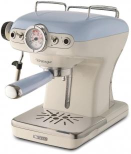 Espressomaschine 1389 Vintage blau-weiß blau, Ariete