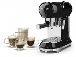 Espressomaschine ECF01BLEU silber, Smeg