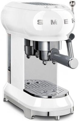 Espressomaschine ECF01WHEU silber, Smeg