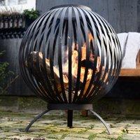 Esschert Design Feuerball Starlight, 74x59x59 cm, Karbonstahl, schwarz