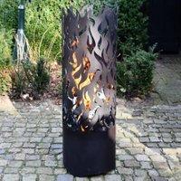 Esschert Design Flammentower Spector, 118x39x39 cm, Karbonstahl, schwarz