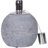 Esschert Design Tischöllampe Stone, 17x14x14 cm, Beton, Edelstahl, grau