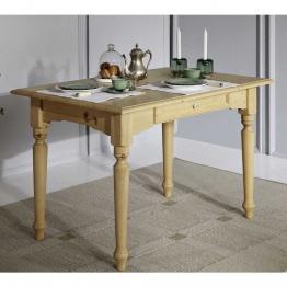 Esszimmertisch aus Fichte Massivholz mit Schublade