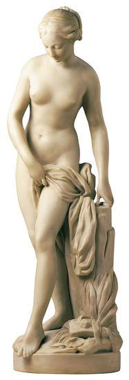 Etienne-Maurice Falconet: Skulptur ´Badende´ (Originalgröße), Kunstmarmor, Skulptur