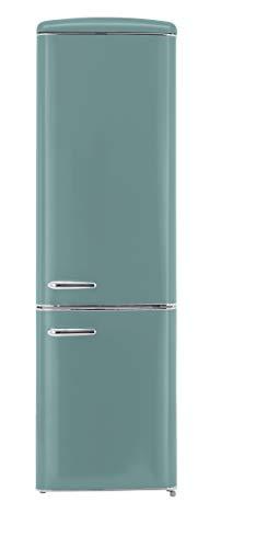 Exquisit RKGC 250/70-16 A++TB Retro-Kühl-Gefrierkombination/EEK: A++/ 4* Gefrierfach/181 Liter Kühlen/63 Liter Gefrieren/Retro-Handgriff/Taubenblau - 1