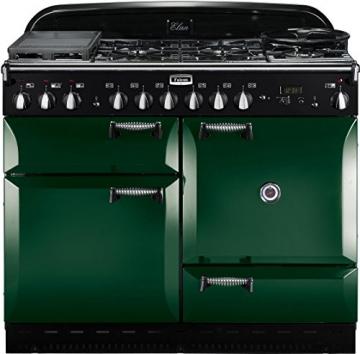 Falcon Rangecooker ELAN 110 grün, Kochfeld Gas Grill -
