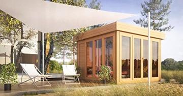 flachdach gartenhaus sonneninsel 3 50 x 3 70 meter aus 28 mm blockbohlen shop ambiente. Black Bedroom Furniture Sets. Home Design Ideas