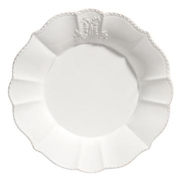 Flacher Teller aus Keramik, wei�