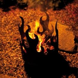 Flammenkorb tanzende Flamme