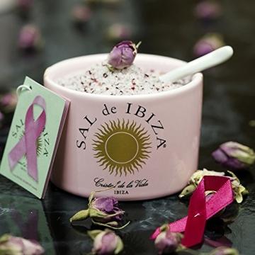 Fleur de Sel Ibiza mit Rosenblättern Pink Ribbon - Keramiktopf mit Löffel 150g - NEU - 2