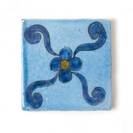 Fliese ´´bleue majorelle´´, blau, L 10 cm, B 10 cm, H 1cm