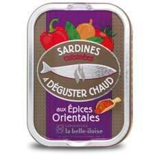 Französische Sardinen zum Braten, 5 Sorten heiße Sardinen aus der Bretagne in Schmuckdose - 4