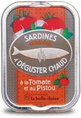 Französische Sardinen zum Braten, 5 Sorten heiße Sardinen aus der Bretagne in Schmuckdose - 5