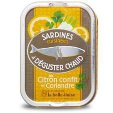 Französische Sardinen zum Braten, 5 Sorten heiße Sardinen aus der Bretagne in Schmuckdose - 6